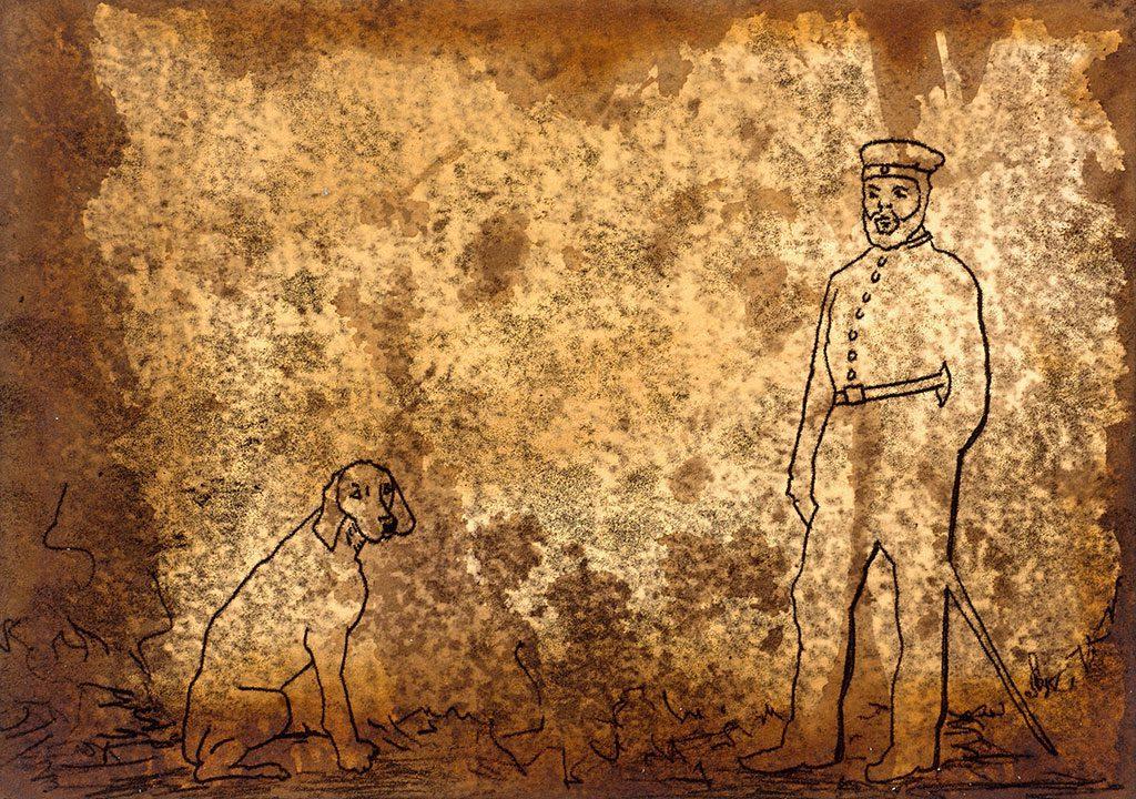 Herrchen und Hund
